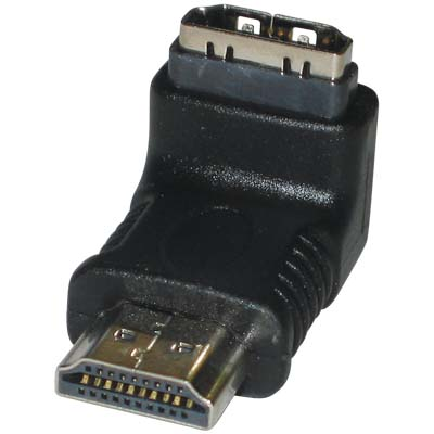VC-010 HDMI 90D HOOKED CONNECTOR Αντάπτορας HDMI αρσ. - HDMI θηλ. γωνία 90°