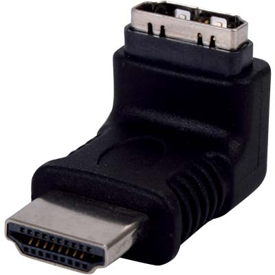 VC-011 HDMI 270D HOOKED CONNECTOR Αντάπτορας HDMI αρσ. - HDMI θηλ. γωνία 270°