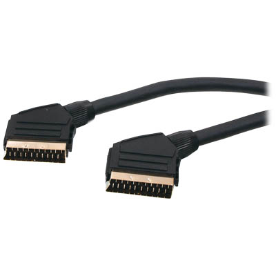 SCART 45 21PIN SCART CABLE - GOLD PLATED Καλώδιο Scart 21p - Scart 21p