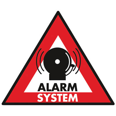 SEC-ST-AS STICKER ALARM SYSTEM 123x148 MM Αυτοκόλλητο ALARM 123 x 148mm