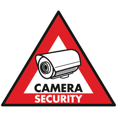 SEC-ST-CS STICKER CAMERA SECURITY 123x148 MM Αυτοκόλλητο CAMERA SECURITY 123x148mm