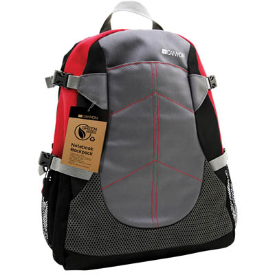 CNF-NB04R NOTEBOOK BACKPACK RED 15 CANYON Τσάντα - σακίδιο πλάτης για notebook 12'' και 15.6''