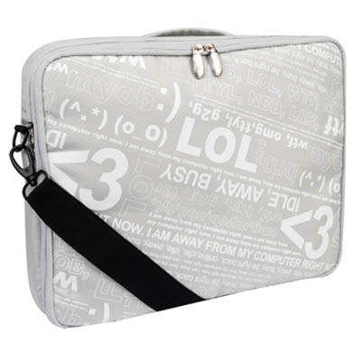"GNCR-715S2 (SILVER) 15"" MESSENGER BAG Τσάντα για laptop 15"" Daytime Chat Ασημί"