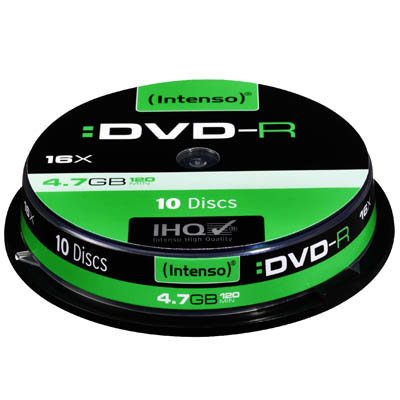 INTENSO 04317 DVD-R 4,7 GB 16x 10 CAKE BOX /4101152 DVD-R 4,7GB, 16x Speed
