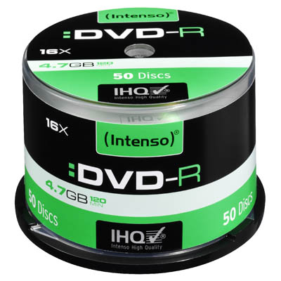 INTENSO 04355 DVD-R 4,7 GB 16x 50 CAKE BOX /4101155 DVD-R 4,7GB, 16x Speed