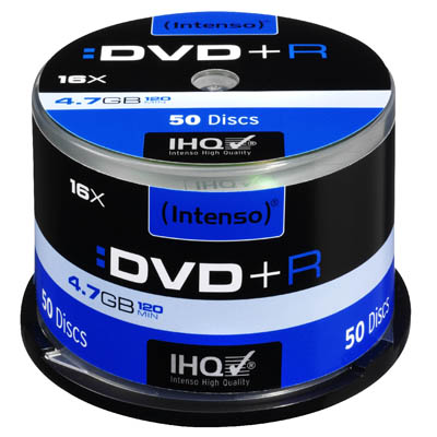 INTENSO 04492 DVD+R 4,7 GB 16x 50 CAKE BOX /4111155 DVD+R 4,7GB, 16x Speed