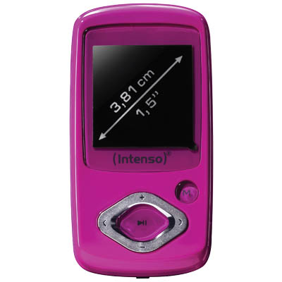 "INTENSO 13494 MP3 VIDEOPLAYER ROCKER PINK 4GB /3708453 Video Rocker 1,5"" 4GB"