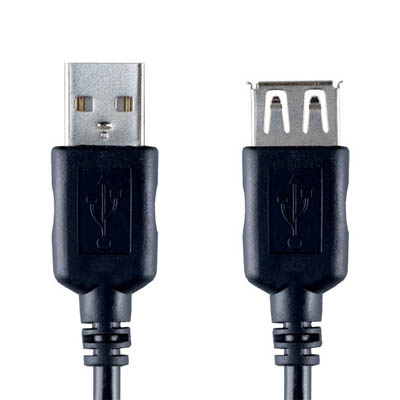 VCL4302 USB-A M - USB-A F 2.0m Καλώδιο USB Bandridge Value line, USB-A male - USB-A female σε μήκος 2m.