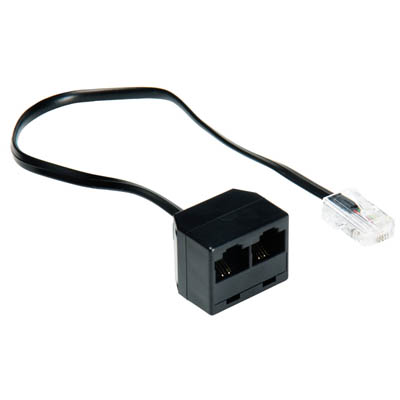 VTP9201 RJ45 M - 2x RJ45 F 0.2m Black Τηλεφωνικό splitter ISDN Bandridge Value line, RJ45 male - 2x RJ45 female