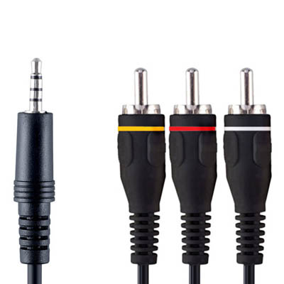 VVL4202 3.5mm M - 3x RCA M 2.0m Καλώδιο εικόνας - ήχου Bandridge Value line, 3.5mm male - 3x RCA male σε μήκος 2m.