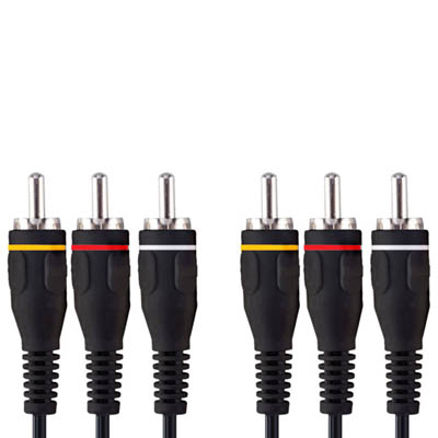 VVL5302 3x RCA M - 3x RCA M 2.0m Καλώδιο εικόνας - ήχου Bandridge Value line, 3x RCA male - 3x RCA male σε μήκος 2m.