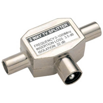VVP421 Coax M - 2 x Coax F Antenna splitter Bandridge Value line, RF male - 2x RF female