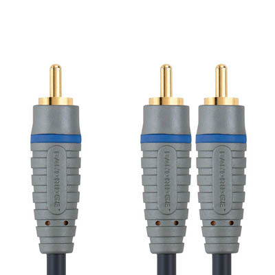 BAL4105 RCA M - 2x RCA M Mono 5m Καλώδιο ήχου Bandridge Blue line, RCA male - 2x RCA male σε μήκος 5m.