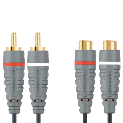 BAL4305 2x RCA M - 2x RCA F 5m Καλώδιο ήχου Bandridge Blue line, 2x RCA male - 2x RCA female σε μήκος 5m.