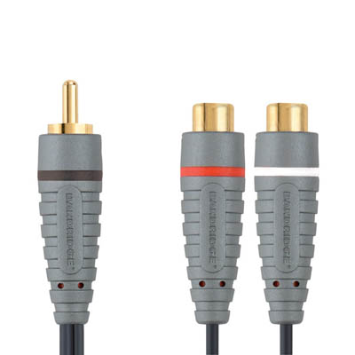 BAL4500 RCA M - 2x RCA F 0.2m Καλώδιο ήχου Bandridge Blue line, RCA male - 2x RCA female σε μήκος 0.2m.