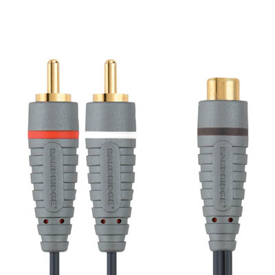 BAL4600 2x RCA M - RCA F 0.2m Καλώδιο ήχου Bandridge Blue line, 2x RCA male - RCA female σε μήκος 0.2m.