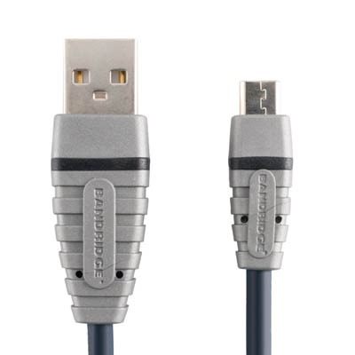 BCL4902 USB A M - USB Micro-B M 2.0m Καλώδιο USB Bandridge Blue line, USB-A male - USB-B micro σε μήκος 2m.