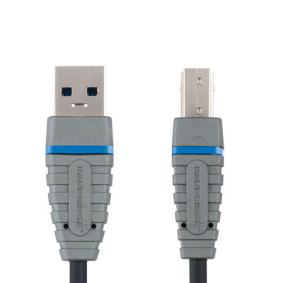 BCL5102 USB3.0-A M-USB-B M power 2.0m Καλώδιο USB 3.0 Bandridge Blue line, USB-A male - USB-B male σε μήκος 2m.