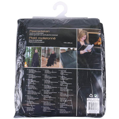 ED 48413 FLEENCE BLANKET 150x200cm BLACK Κουβέρτα φλις