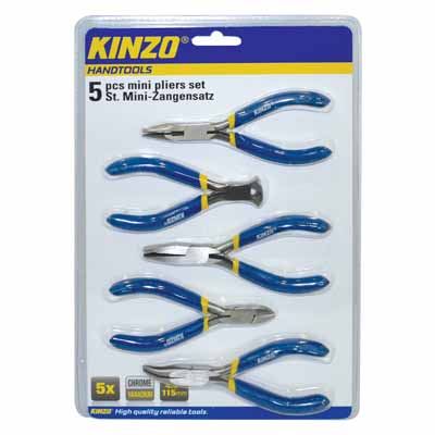 KINZO 72093 MINI PLIERS SET 5PCS 115MM