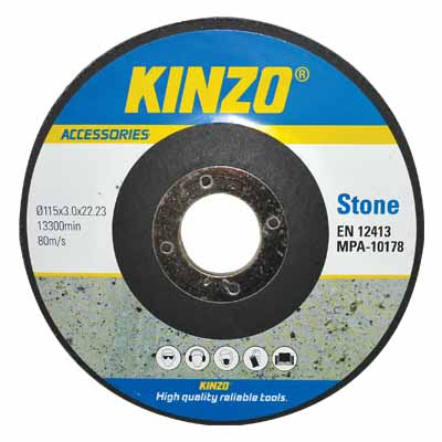 KINZO 71771 STONE DISC 115MM 10PCS