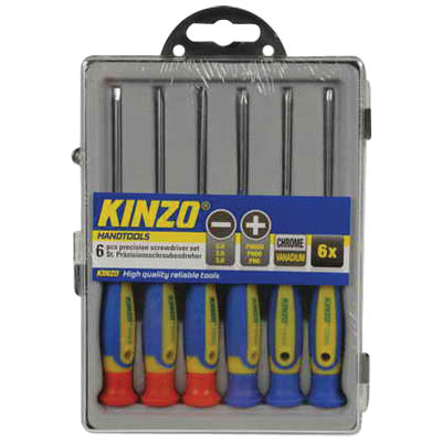 KINZO 72003 PRECISION SCREWDRIVER SET 6PCS CRV Σετ κατσαβίδια 6τμχ