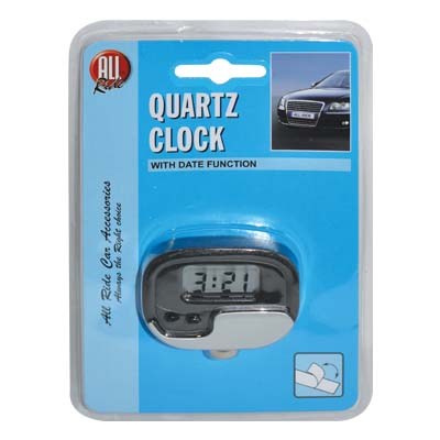 ALL RIDE 28347 CLOCK QUARTZ METAL LOOK Ρολόι αυτοκινήτου quartz