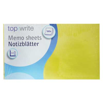 TOPWRITE 45264 MEMO SHEET 100PCS 7.5X12.5CM DISPLAYX24 Αυτοκόλητα χαρτάκια Post it