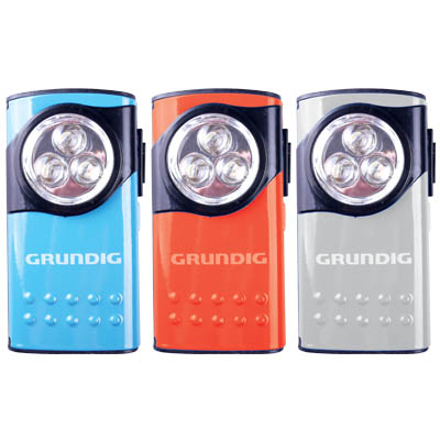 GRUNDIG 27129 TORCH ALU 3LED 3ASS DISPLAYX12 Επιτραπέζιο stand με φακούς LED