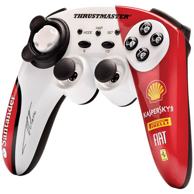 THRUSTMASTER 2960731 ALONSO WIRELESS GAMEPAD PC Ασύρματο Χειριστήριο Ferrari Alonso edition για PC και PS3