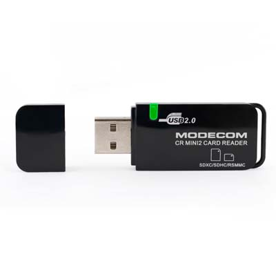MODECOM CR-MINI 2 EXTERNAL CARD READER Φορητό USB 2.0 card reader