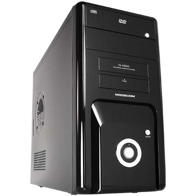MODECOM CLASSIC MINI ALL COMPUTER CASE BLACK GLOSSY W/O PSU ATX και micro ΑΤΧ κουτί Η/Υ