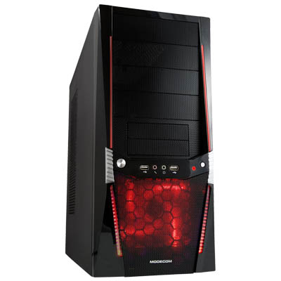 MODECOM VIPER RED LED FAN COMPUTER CASE WITHOUT POWER SUPPLY ATX και micro ΑΤΧ κουτί Η/Υ