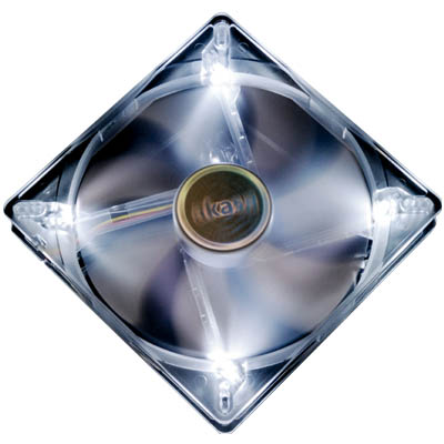 AKASA 195WH MULTI FIT 13-14CM FAN WHITE LED LIGHT Ανεμιστήρας Η/Υ 140mm με λευκά LED.