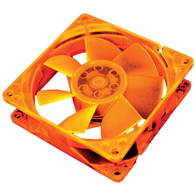 AKASA 176OR-S 8CM ORANGE UV REACTIVE FAN Ανεμιστήρας Η/Υ 80mm UV.