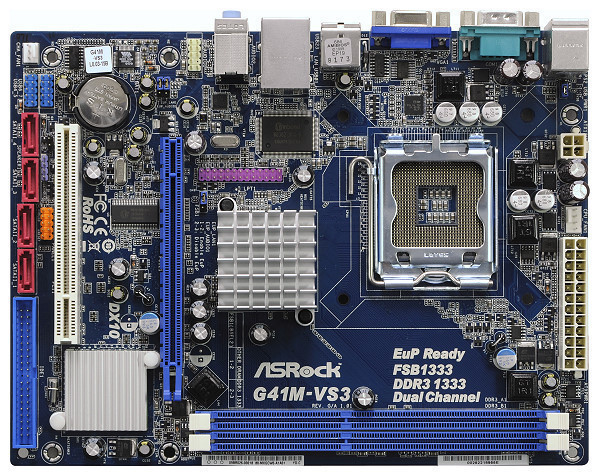 ΜΗΤΡΙΚΗ MOTHERBOARD ΜΕ SOCKET 775 ASRock G41M-VS3