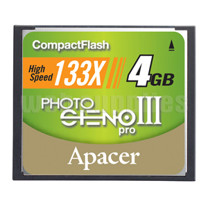 APACER COMPACT FLASH CARDS CF PHOTO STENO III 16GB
