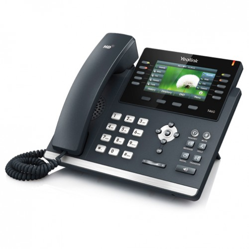 Σταθερή τηλεφωνική συσκευή VOIP Yealink SIP-T46G Ultra-Elegant Gigabit Color IP Phone