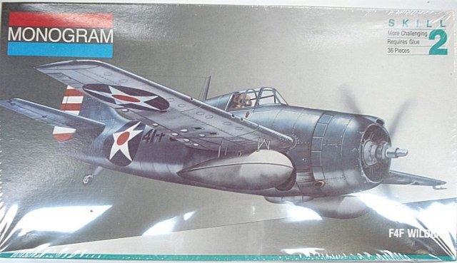1/48 scale Monogram F4F Wildcat airplane model kit# 5220 1:48 military aircraft