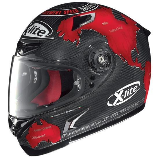 ΚΡΑΝΟΣ ΑΝΑΒΑΤΗ ΜΟΤΟΣΥΚΛΕΤΑΣ X-802R CARLOS CHECA FULL ULTRA LIGHT CARBON MOTO X-LITE 50802RUC1