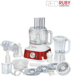 Πολυμίξερ Moulinex FP520G Masterchef 5000, Red Ruby Collection