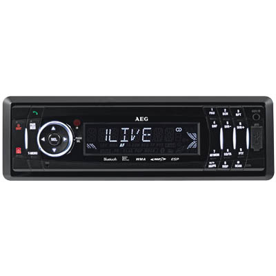 AR 4021 AEG CAR RADIO WITH CD/MP3 AND BLUETOOTH 004027 Ραδιόφωνο αυτοκινήτου με CD/MP3 και Bluetooth