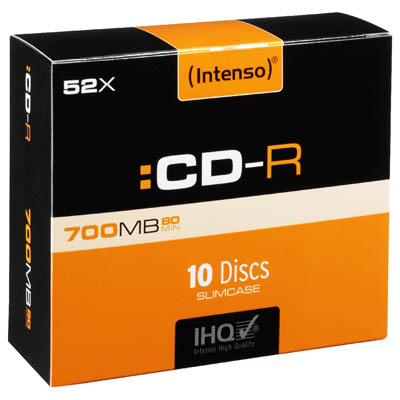 INTENSO 01248 CD-R 700MB 10 SLIM CASE 1001622 CD-R 700MB/80min., 52x Speed
