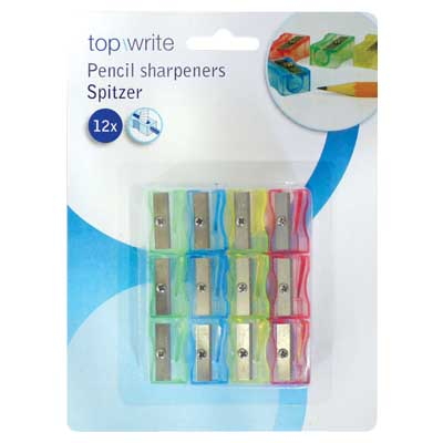 TOPWRITE 45170 PENCIL SHARPENER 12PCS ASS COLOUR Ξύστρες μολυβών